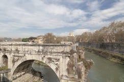 Rome,Lazio,Italy. City view, ancient Broken bridge, Ponte Rotto over Tiber river, Rome Royalty Free Stock Image