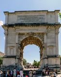 Rome, Lazio, Italy. July 25, 2017: Arch erected in honor of the. Roman Emperor Tito located at the entrance of the Roman Forum Stock Photos