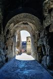 Rome, Lazio, Italy. July 25, 2017: Interior views of the Roman C. Oliseum with many people visiting the interior Royalty Free Stock Photos