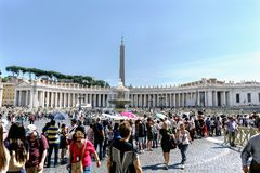 Rome, Lazio, Italy. May 25, 2017: Panoramic view of St. Peter`s