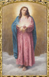 Rome - le coeur de la peinture de Jesus Christi en Di Santa Maria AI Monti de Chiesa d'église par T Tarenghi (1910) photos libres de droits