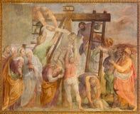 Rome - le fresque de dépôt dans l'église Chiesa San Marcello al Corso par Paolo Baldini (1600) Images stock