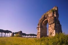 Rome : le parc des aqueducs Photo libre de droits