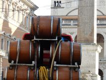 Rome - load of barrels Stock Image