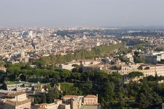 Rome - look from cupula of st. Peters cathedral Royalty Free Stock Image