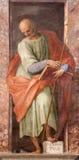 Rome - målarfärg av St Philip aposteln från den Santa Maria di Loreto kyrkan från 16 cent Arkivbild