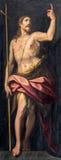 Rome - målningen av St John det baptistiskt i kyrkliga Chiesa di Santo Spirito i Sassia av Jacopo Zucchi (1583) Royaltyfria Bilder