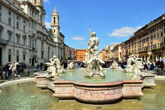 Piazza Navona, Rome. Italië Royalty-vrije Stock Foto's