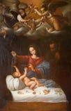 Rome - Madonna des roses par D Spagnolo (1589) en Basilica di Sant Agostino (Augustine) Photos libres de droits