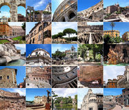 Rome in many pictures Royalty Free Stock Photos