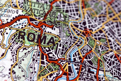 Rome on the map Stock Image