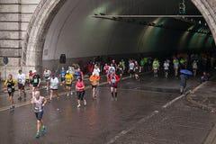 Rome maraton Arkivfoto