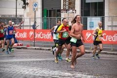Rome maraton Royaltyfria Foton