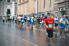 Rome maraton Royaltyfria Bilder