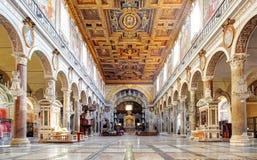 ROME, MARCH - 21: Interior of church Santa Maria Aracoeli. March Royalty Free Stock Photo