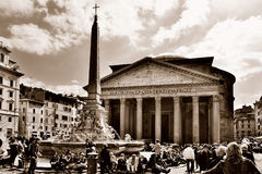 Ancient Pantheon in Rome Stock Images