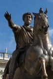 Rome - Marcus Aur statue rome - piazza campidoglio Stock Photography
