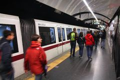 Rome metro Stock Photography