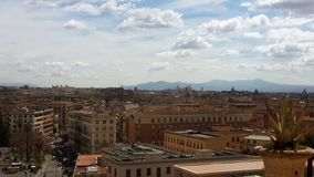 Rome midday skyline royalty free stock image