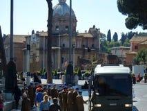 Rome - Military on the bus stock photos