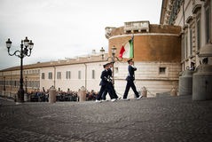 Rome. Military parade Royalty Free Stock Images