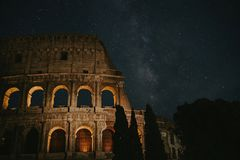 Rome Milky Way stock photography