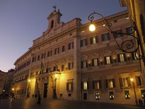 Rome Montecitorio Palace royalty free stock photo