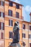 Rome. Monument to Giordano Bruno. Royalty Free Stock Photo