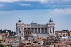 Rome - Monument to Vittorio Emanuele II Royalty Free Stock Photo