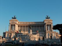 Rome-Monument of Vittorio Eman Stock Photo