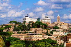 Rome and Monument Vittorio Emanuele II (Altar Fatherland), Italy Royalty Free Stock Photography