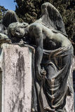 Rome Monuments. Monuments and graveyard tombs in Rome Italy royalty free stock image