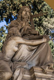 Rome Monuments. Monuments and graveyard tombs in Rome Italy stock photo