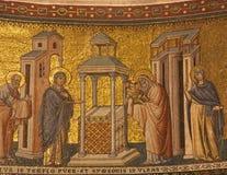 Rome - mosaïque de présentation dans le temple Photo stock
