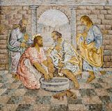 Rome - mosaic of feet washing Stock Image