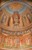 Rome - The mosaic in main apse of anglicans church Chiesa di San Paolo dentro le Mura. Royalty Free Stock Photos