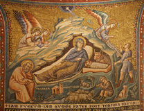 Rome - mosaic of The Nativity Stock Image