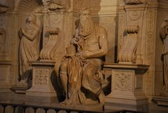 Rome - The Moses (Michelangelo) Royalty Free Stock Photography
