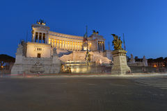 Rome nationell monument av Victor Emmanuel II Arkivbilder