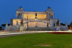 Rome nationell monument av Victor Emmanuel II Fotografering för Bildbyråer