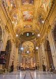 Rome - The nave of baroque church Basilica di Sant Andrea della Valle. Stock Photography