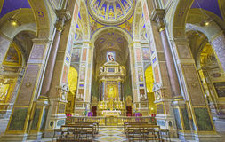 Rome - The nave of church Chiesa di Sant Agostino (Augustine). Stock Photos
