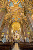 Rome - The nave of church Santa Maria dell Anima. Royalty Free Stock Photos