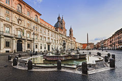 Rome Navona Along sun Royalty Free Stock Image