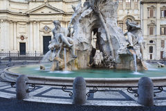 Rome Navona Fount Close Stock Photos
