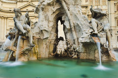 Rome Navona Fount 2 Close Royalty Free Stock Images