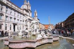 Rome Navona fyrkant Arkivfoto