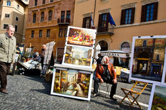 Rome,navona square Stock Photos