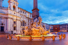 Rome. Navona Square. Piazza Navona. The famous square of Navona at dawn. Rome. Italy royalty free stock photos