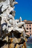 Rome, Navona Square, River God Ganges Sculpture Royalty Free Stock Photography